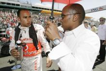 Lewis Hamilton (GBR) McLaren MP4-23 With His Brother Anthony, Australian F1 Grand Prix, Albert Park,
