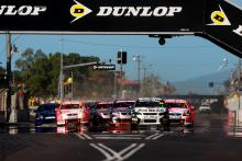 James Courtney leads the start or race 11 at Townsville on Saturday, (Aust) Jim Beam DJR Ford