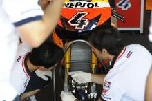Honda with Ohlins forks, Brno MotoGP Test 2009