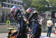 Race, Sebastian Vettel (GER), Red Bull Racing, RB6 race winner and Mark Webber (AUS), Red Bull Racin