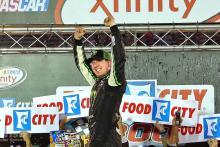 Busch takes Xfinity win as Buescher dries at Bristol