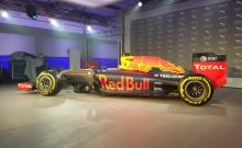 Red Bull unveils livery for 2016 F1 challenger