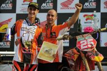 Musquin claims MX2 title in Brazil.