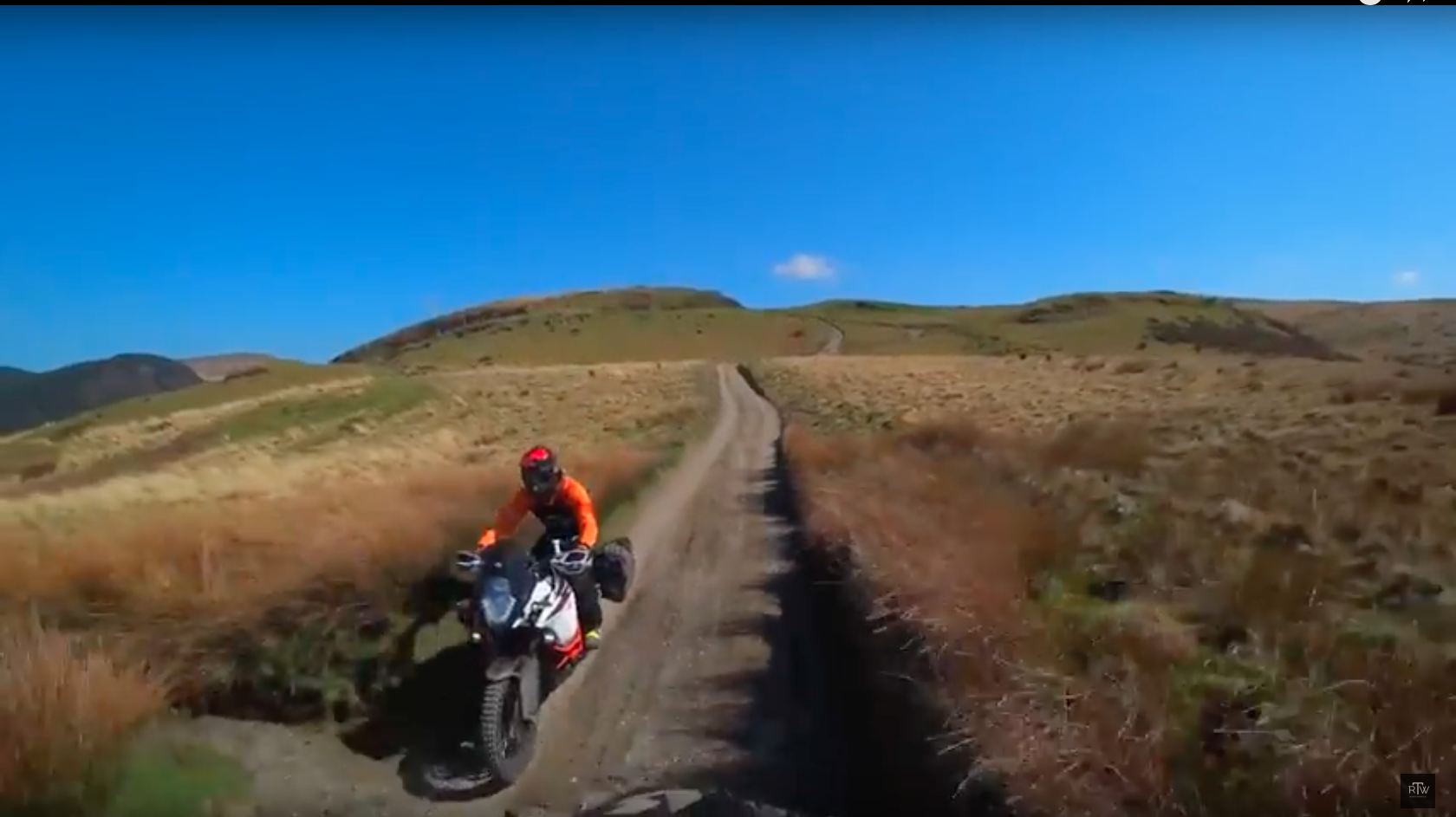 Adventure bike riding in Wales