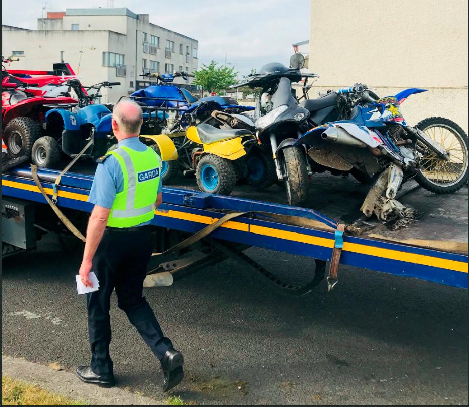 Dublin Gardai dirtbike seizure