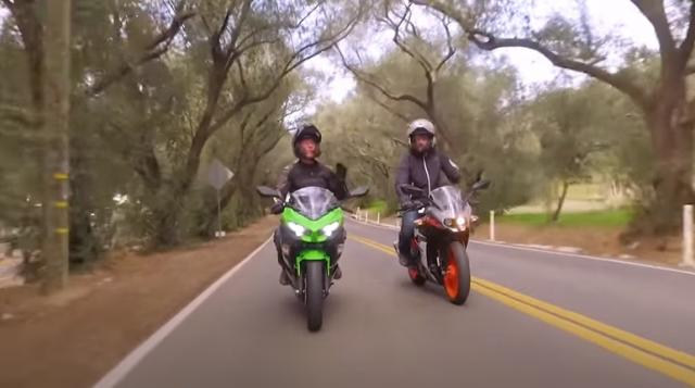 Two motorcycles on road