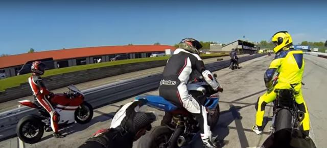 Motorcycles on track