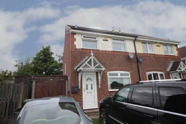 2 Bedrooms Semi Detached House for sale in Kedleston Court, Alfreton, Derbyshire, DE55 5QT
