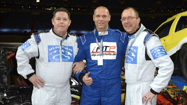 Thorsten Legat im November 2014 bei der Stock Car Crash Challenge auf Pro7 (Foto: picture alliance / Geisler-Fotop)