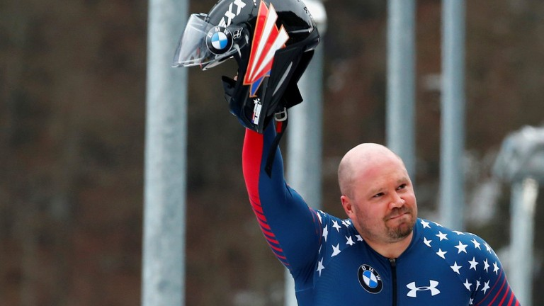 FILE PHOTO: Bobsleigh - BMW IBSF Bob & Skeleton World Championships - 4-men final race - Koenigssee, Germany - 26/2/17 - Pilot Steven Holcomb of the USA reacts. REUTERS/Arnd Wiegmann/File Photo (Foto: REUTERS)