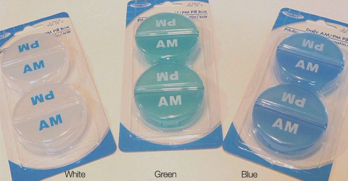 Set of 2 AM / PM Pill Boxes