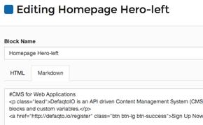 HTML Blocks