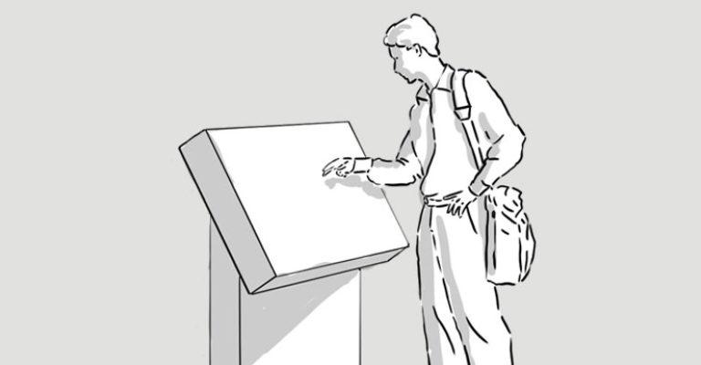 Affordance öffentlicher Touchscreens