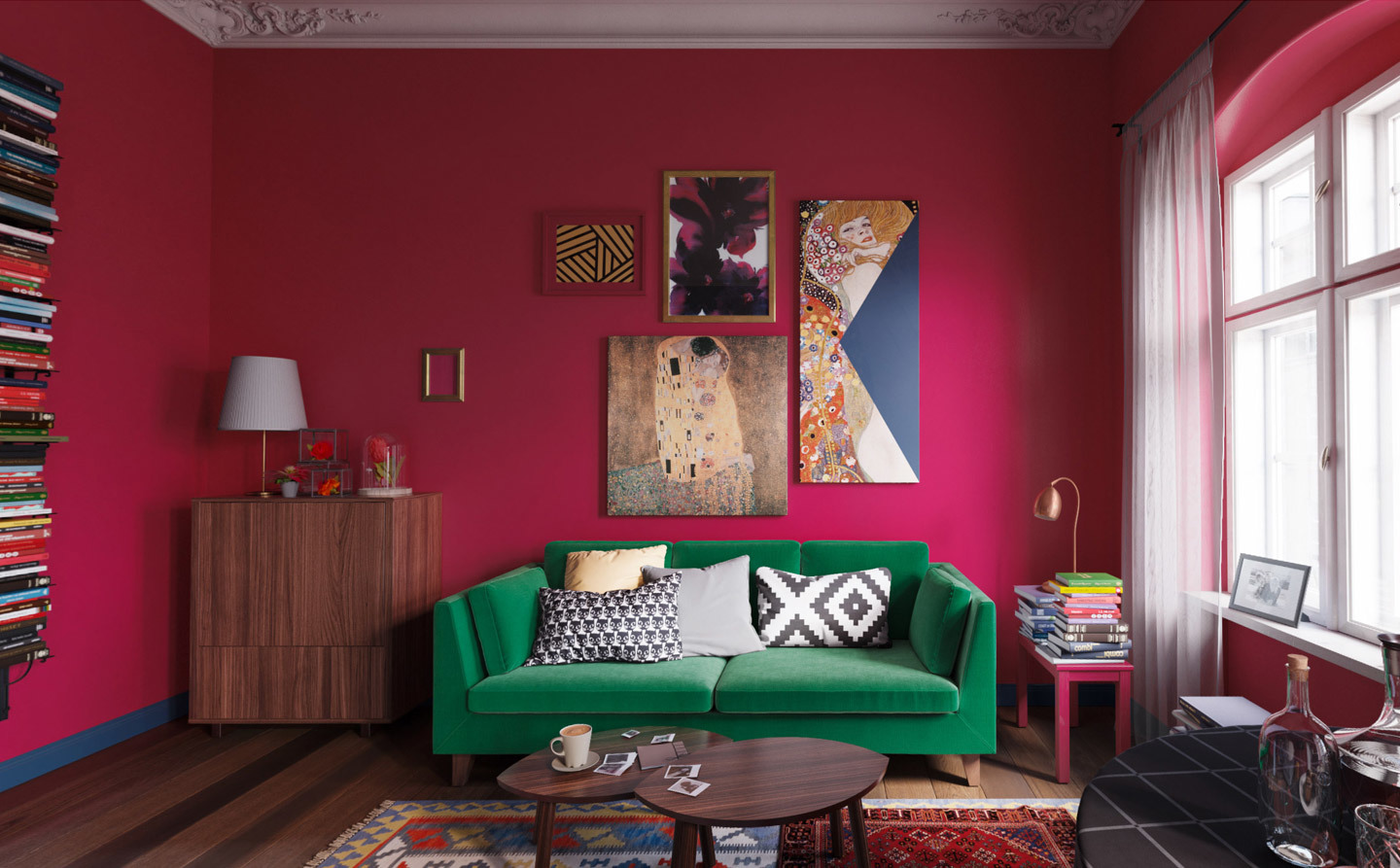 Ikea Room Red
