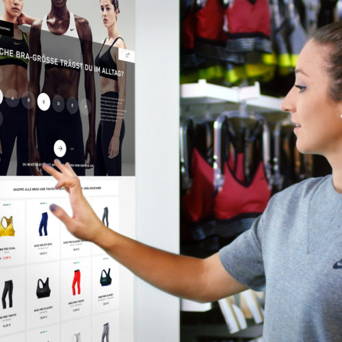 Nike  Mix-and-match shopping terminal