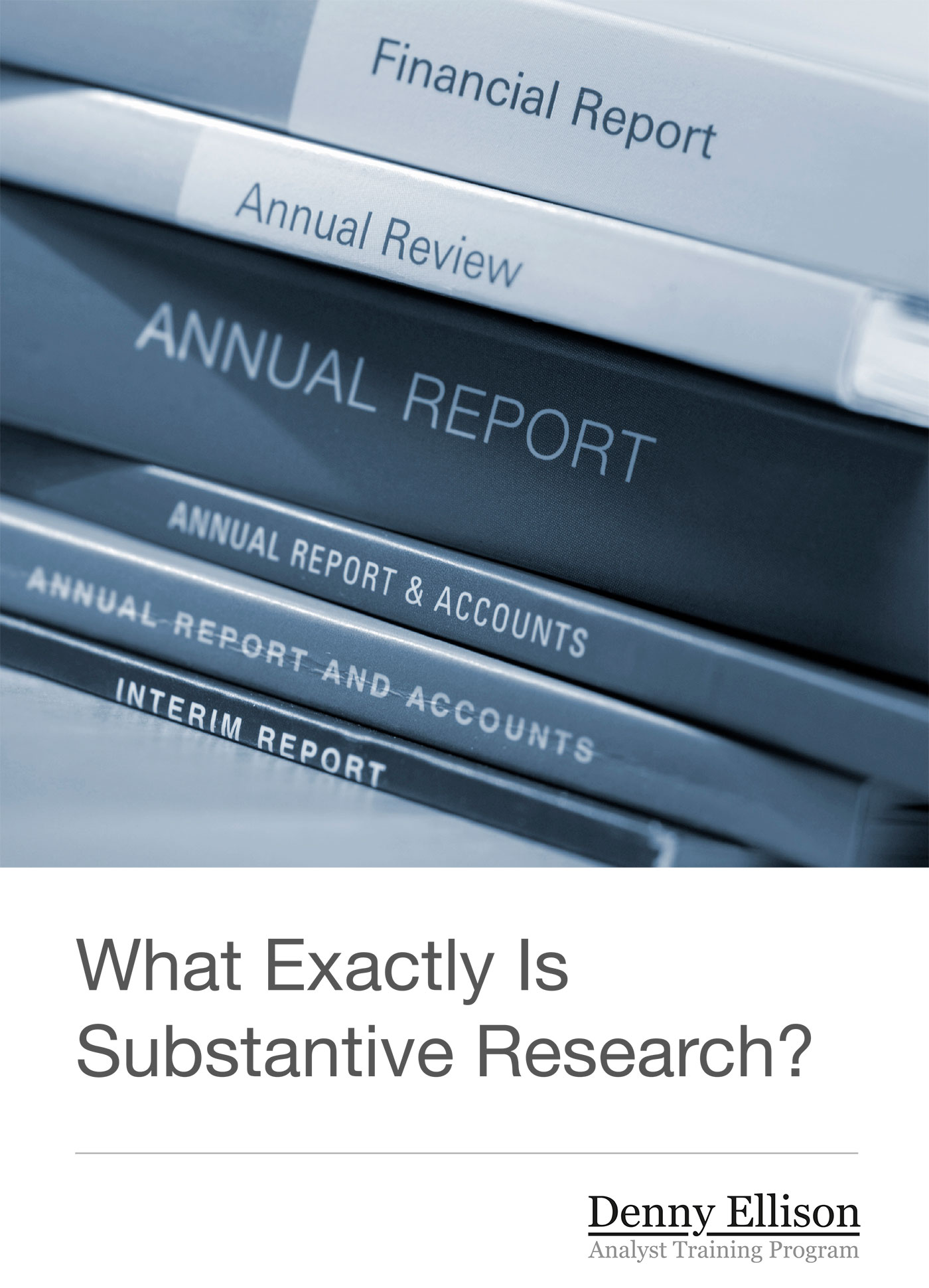 What Exactly Is Substantive Research?