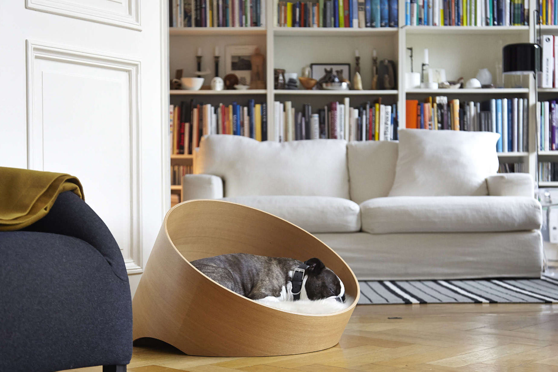Very Comfortable: The Covo Dog Basket by Designer Uta Cossmann