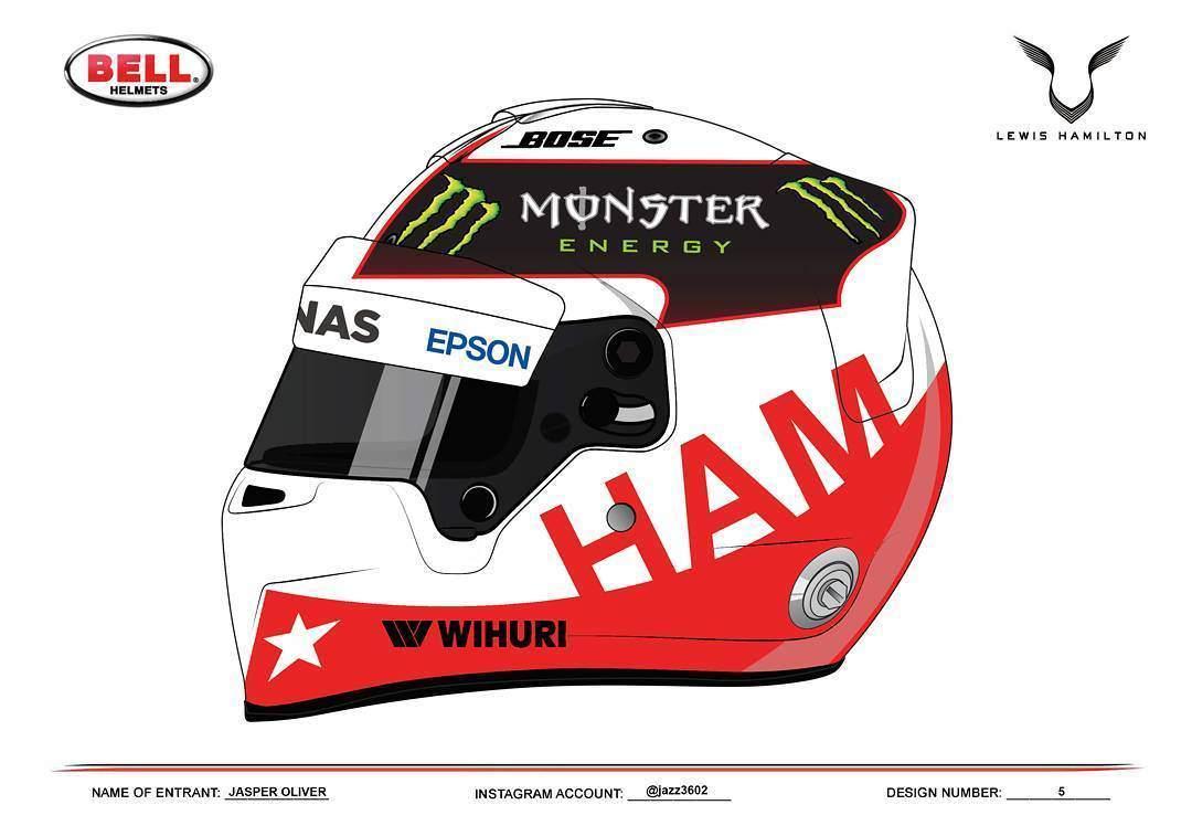 Helm Design deine chance lewis hamilton sucht ein neues helm design