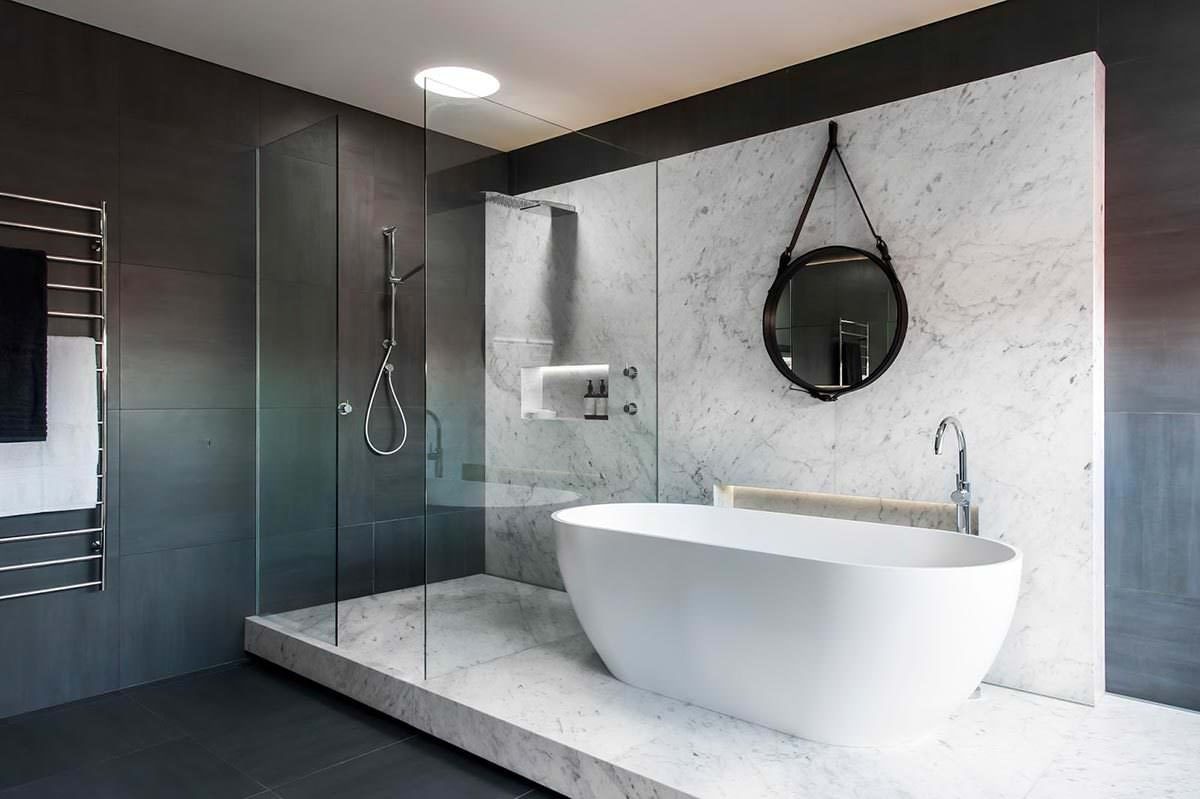 minimalistisches luxus badezimmer von minosa design. Black Bedroom Furniture Sets. Home Design Ideas