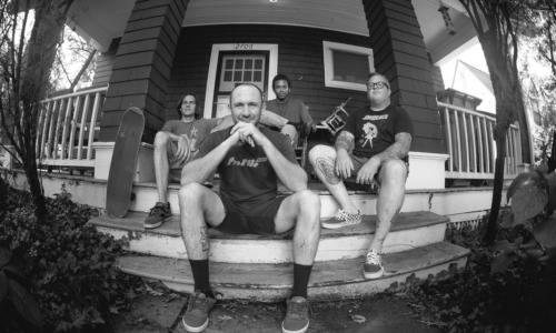 Kaleb Bolton, Jay Schlie, Steve Crandall, and Matt Coplon. Salad Days version 2016. The Minor Threat House. Photo by Kaleb Bolton (Maiden 9 of 26)
