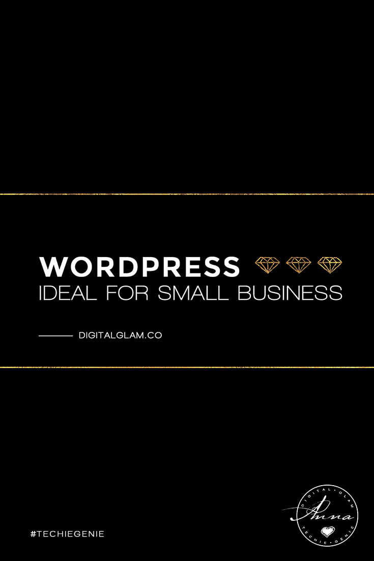WordPress ideal for small business sites