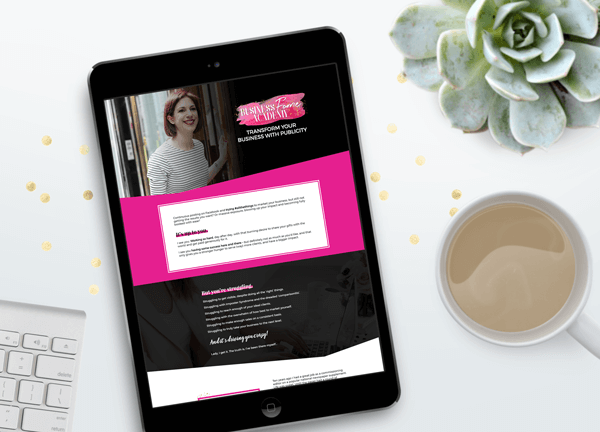 Business Fame Academy Sales Page by Anna Langa