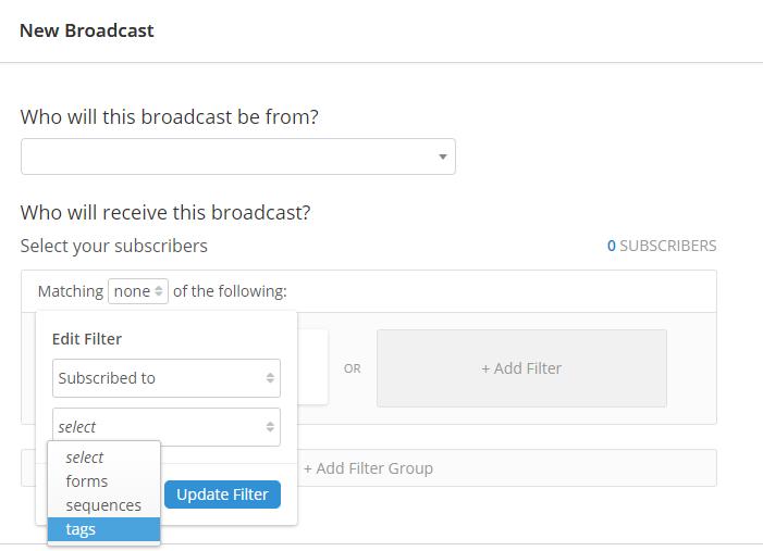 ConvertKit - broadcast