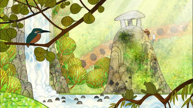 "Fotogramma di ""The Secret of Kells"" di Tomm Moore."