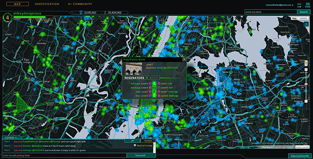 "Screenshot del videogioco ""Ingress""."