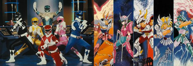 La serie tokusatsu più favosa in occidente, i Power Rangers, a confronto con Saint Seiya.