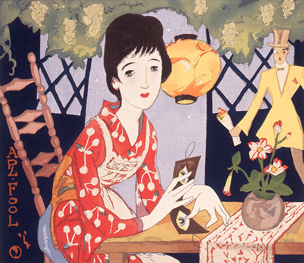 """April Fool"" di Yumeji Takehisa."