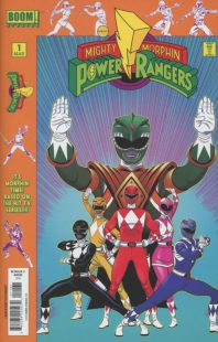 "Copertina di un volumetto di ""Mighty Morphin Power Rangers""."