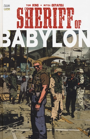 "Copertina di ""The Sheriff of Babylon"" di Tom King e Mitch Gerards."