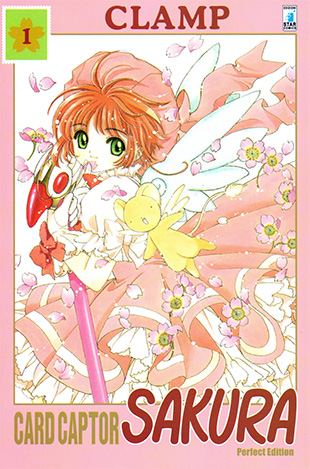 "Cover del primo numero della Perfect Edition italiana di ""Card Captor Sakura"" di CLAMP."