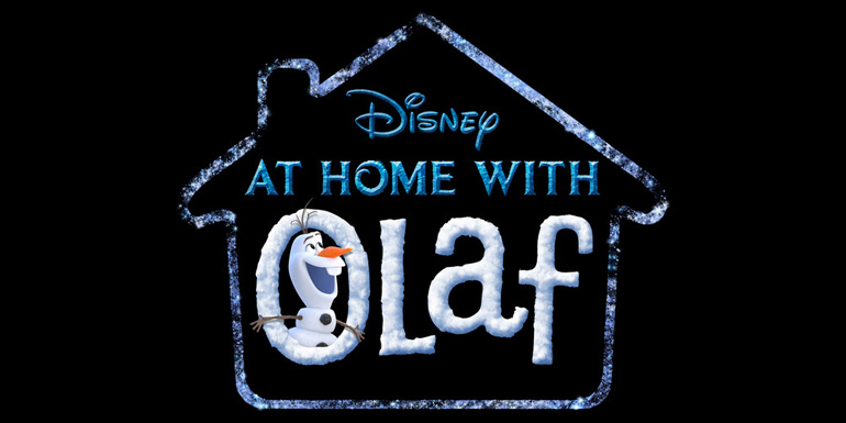 "Logo della serie di cortometraggi ""At Home with Olaf"" dei Walt Disney Animation Studios."