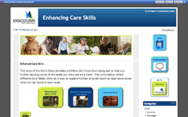 Screenshot of the Skills Zone site