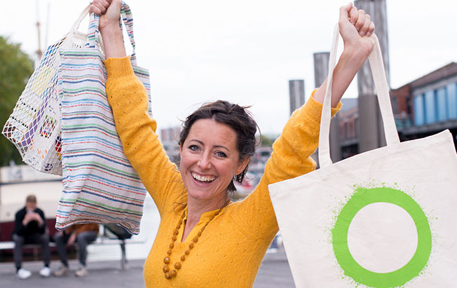 Switch to reusable shopping bags