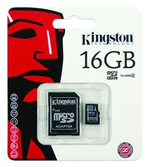 Micro SD  16GB Kingston + Adaptador Class 4