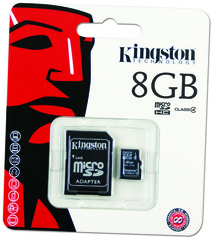 Micro SD  8GB Kingston + Adaptador Class 4