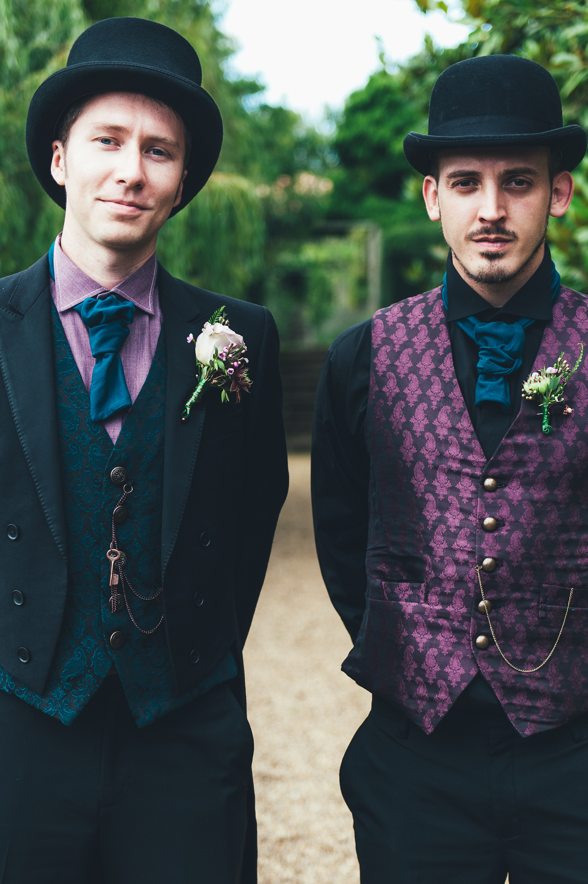 And The Bride Wore Purple: Jojo And Andy\'s Steampunk Wedding ...