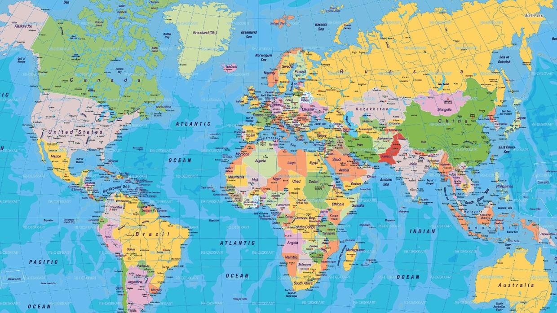 10 mappe per cambiare la vostra visione del mondo - Mappa del mondo contorno ks2 ...