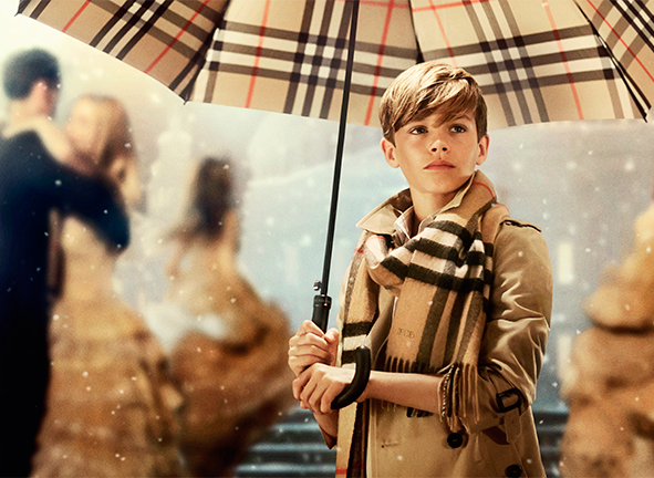 Romeo Beckham for Burberry, Christmas 2014