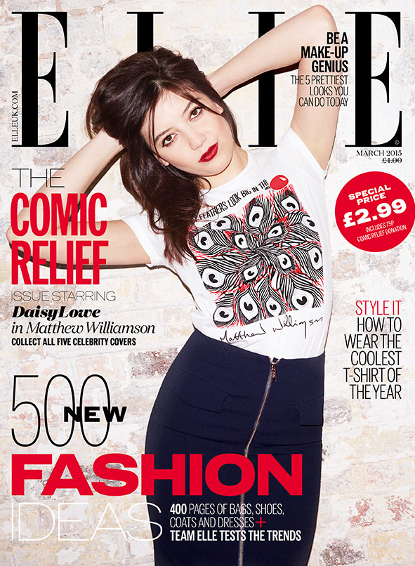 Daisy Lowe Comic Relief Red Nose Day cover