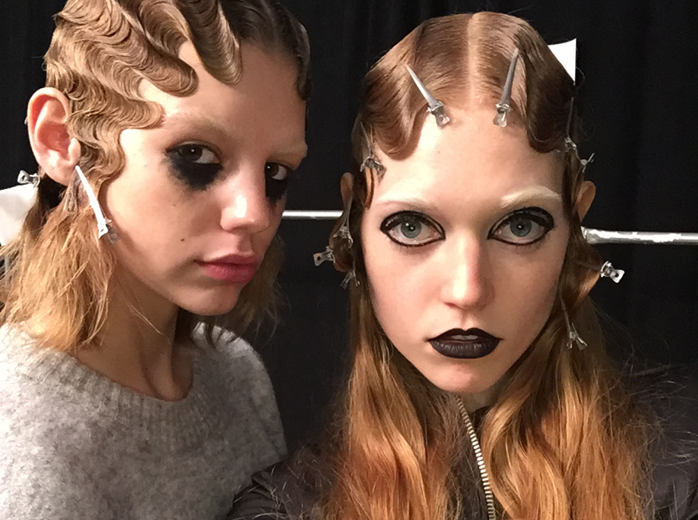 Marc Jacobs AW16 backstage beauty NYFW hair makeup