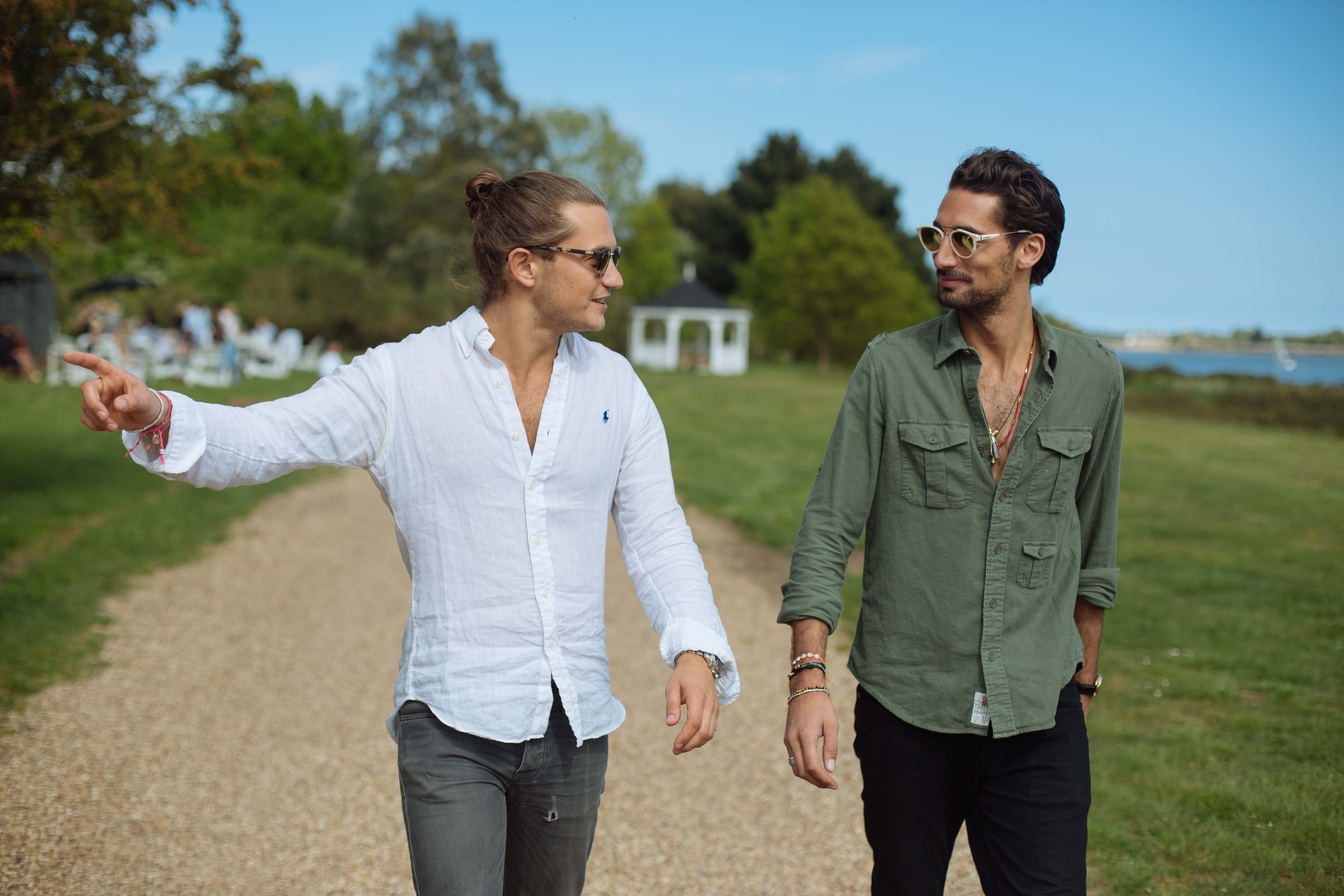 The brains behind Taylor Morris sunglasses :   Hugo Taylor and Charlie Morris, label's cofounders, friends and designers