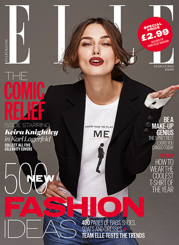 Keira Knightley ELLE Red Nose Day cover