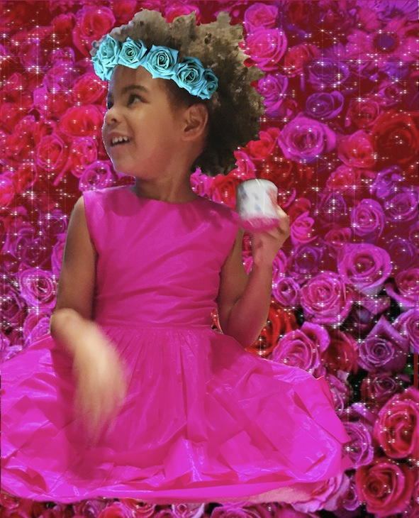 Beyonce Knowles: Her little Blue Ivy, adorable Easter Bunny with Tata Solange