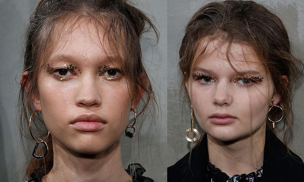 markus lupfer aw16 lfw makeup embellishment