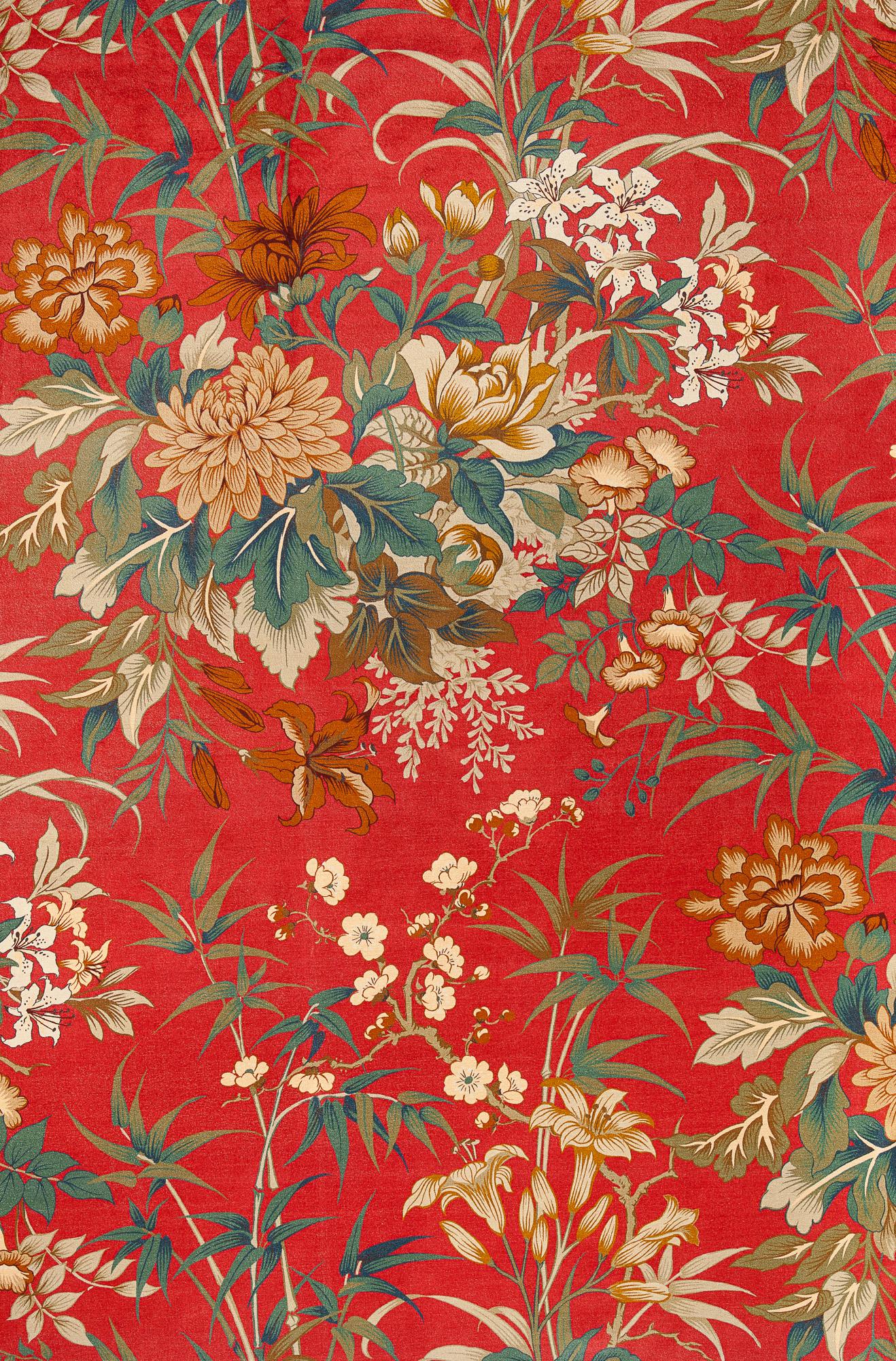 Amadour Ruby Velvet Fabric Jewel The Design Archives