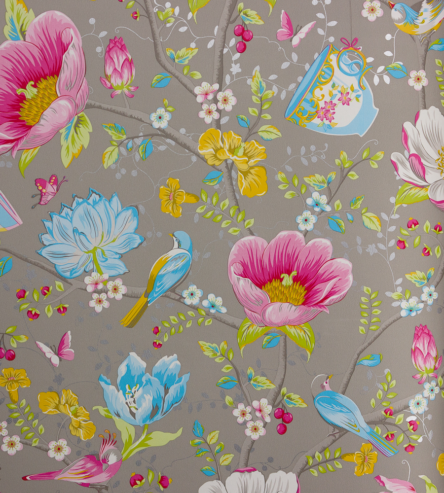 Chinese garden grey wallpaper pip 3 brian yates for Garden design yates